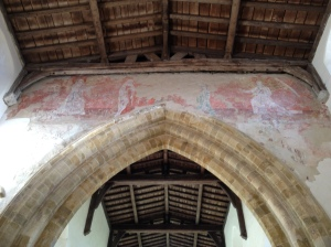 Medieval Wall Painting All Saints Chruch, Burton Dassett